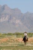 horseback детеныши женщины Стоковое Изображение