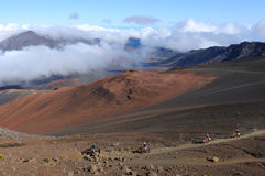 Haleakala Horseback стоковое изображение rf