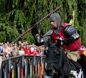 horseback рыцарь средневековый Стоковые Изображения