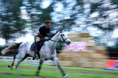 Horseback Archery Competition Royalty Free Stock Photography