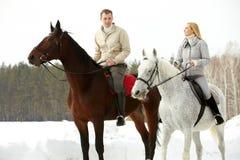 Horseback extérieur rding image libre de droits