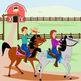 Horseback jazda ilustracja wektor