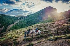 Horseback jazdy wycieczka turysyczna Obraz Royalty Free