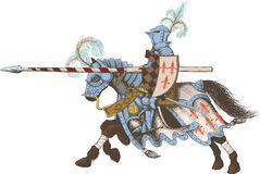 Horseback Knight of the tournament Stock Photos