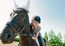 On horseback Royalty Free Stock Photo