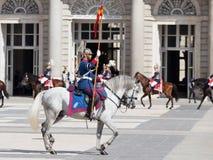 Horseback riders at the Royal Palace Stock Photo