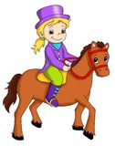 Horseback riding royalty free illustration