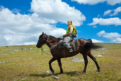 Horseback riding Stock Photography