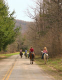 Horseback Riding. Four women enjoy a day of horseback riding Royalty Free Stock Photo