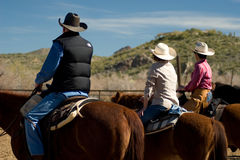Horseback Riding in the Desert Royalty Free Stock Photos