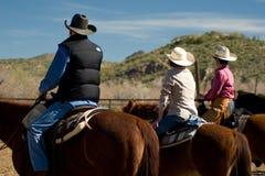 Horseback Riding in the Desert Royalty Free Stock Photos