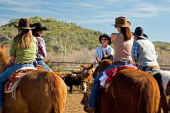 Horseback Riding in the Desert Royalty Free Stock Images