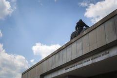A horseback riding Jan Zizka statue Stock Photos