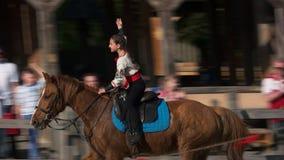 Horseback riding in the park Kievan Rus.