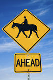 Horseback Riding sign Royalty Free Stock Images