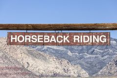 Horseback Riding Sign Royalty Free Stock Photos