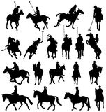Horseback-riding silhouettes Royalty Free Stock Image