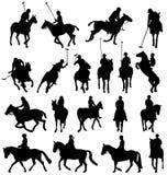 Horseback-riding silhouettes Royalty Free Stock Image