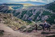 Horseback riding tour Royalty Free Stock Image