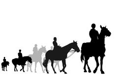 Horseback riding trip Royalty Free Stock Photo