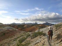 Horseback riding Macanao mountains Margarita Island Venezuela royalty free stock photos