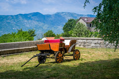 Horsedrawn carriage in Ostrog monastery Royalty Free Stock Photo