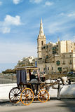 Horsedrawn cart in valetta malta. Old horsedrawn cart in valetta malta Stock Image