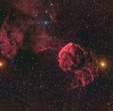 Horsehead-Nebelfleck oder Barnard 33 in der Konstellation Orion genommen mit CD-Kamera durch mittleres Brennweiteteleskop Lizenzfreies Stockfoto
