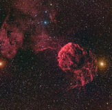 Horsehead Nebula or Barnard 33 in the constellation Orion taken with CCD camera through medium focal length telescope Royalty Free Stock Photo