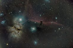 Horseheadnevel, astomy en ruimte royalty-vrije stock fotografie