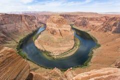 Horsehoe弯,在页附近,亚利桑那 图库摄影