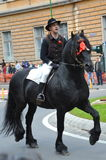Horseman during Brasov Juni parade Royalty Free Stock Image
