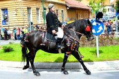 Horseman during Brasov Juni parade Royalty Free Stock Image