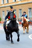 Horseman during Brasov Juni parade Royalty Free Stock Photo