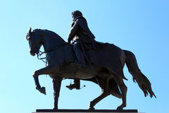 Horseman bronze statue Royalty Free Stock Photo