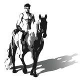 Vector Horseman Royalty Free Stock Photo