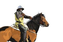 Horseman medieval Royalty Free Stock Photography