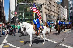 A horseman at San Francisco St. Patrick's Parade Royalty Free Stock Photography