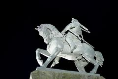 Horseman statue Stock Photography