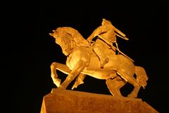 Horseman statue Royalty Free Stock Images