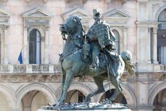 Horseman statue in Milan Stock Photography