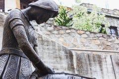 The horseman statue in st. moritz switzerland. Europe Stock Photo