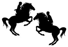 Horseman vector Stock Photos
