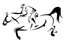 Horseman vector Royalty Free Stock Images