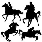 Horsemanship vector illustration