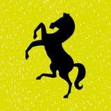 Horsemanship icon design Royalty Free Stock Photography