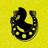 Horsemanship icon design Royalty Free Stock Photo