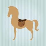Horsemanship icon design Stock Image
