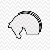 Horsemanship icon design Stock Photography