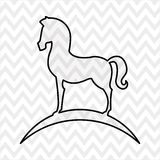 Horsemanship icon design Stock Photo